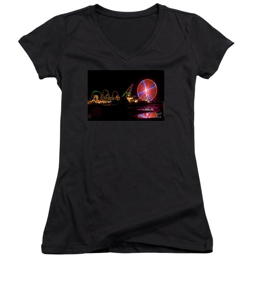 Boardwalk Night Women's V-Neck T-Shirt