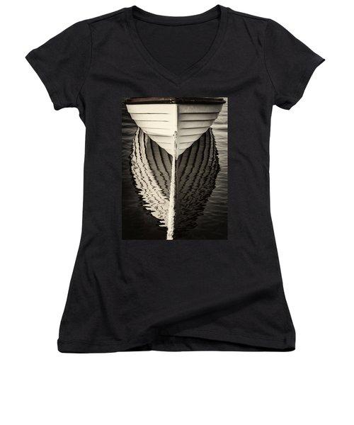 Boat Mirrored Women's V-Neck T-Shirt