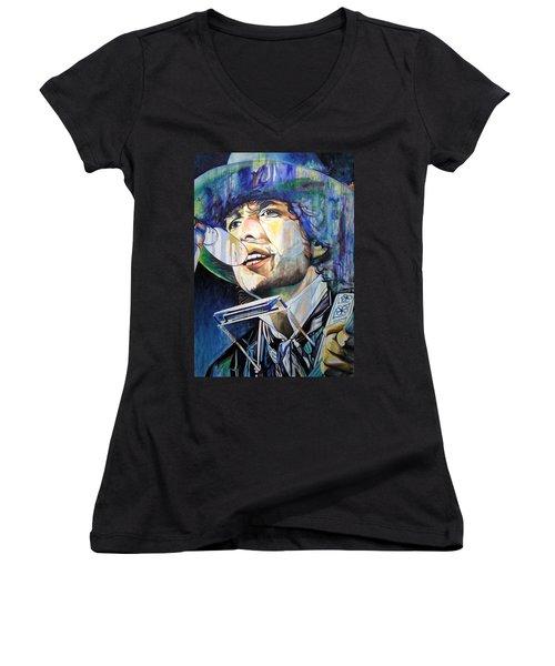 Bob Dylan Tangled Up In Blue Women's V-Neck T-Shirt