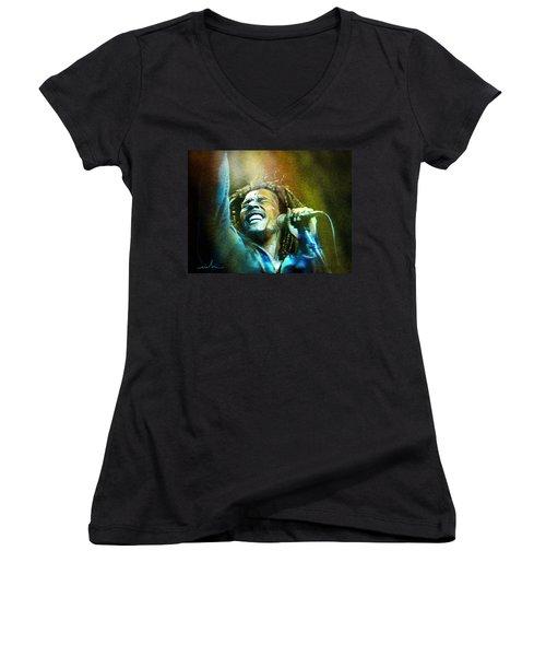 Bob Marley 06 Women's V-Neck