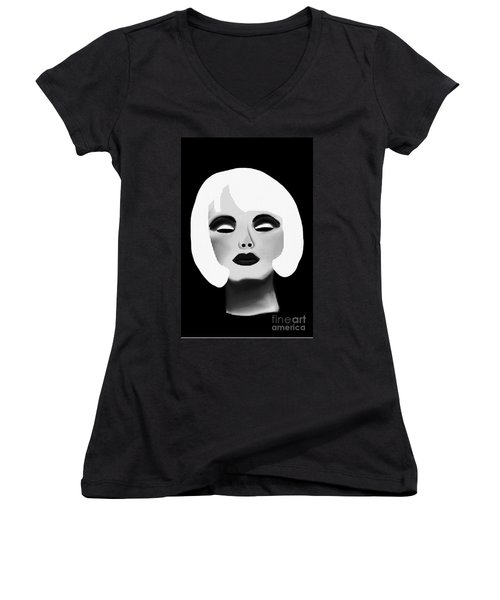 Bold Blonde Beauty Women's V-Neck