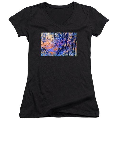 Bold Tree Reflections Women's V-Neck