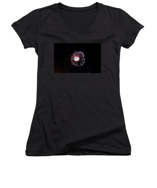 Women's V-Neck T-Shirt (Junior Cut) featuring the photograph Bombay Blue by Amar Sheow