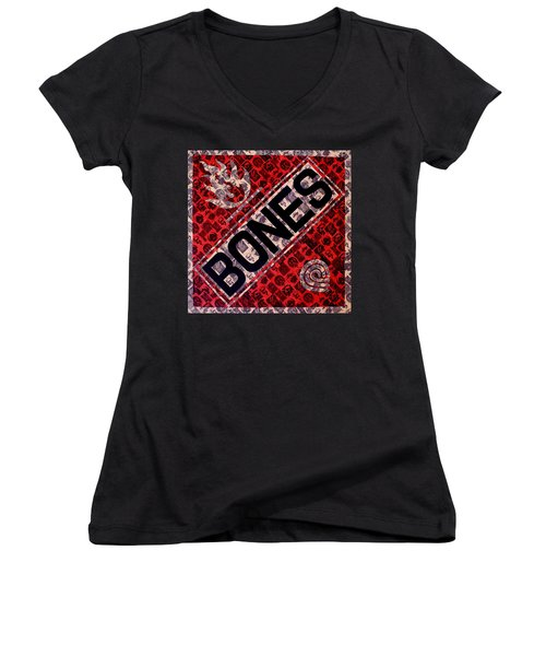 Bones Women's V-Neck (Athletic Fit)