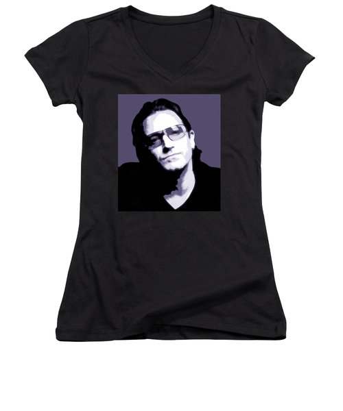 Bono Portrait Women's V-Neck T-Shirt