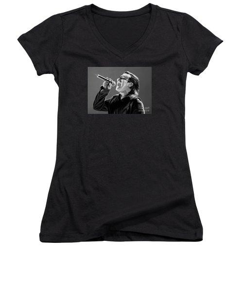 Bono U2 Women's V-Neck (Athletic Fit)