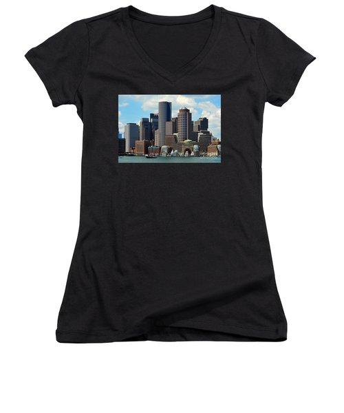 Boston Skyline Women's V-Neck