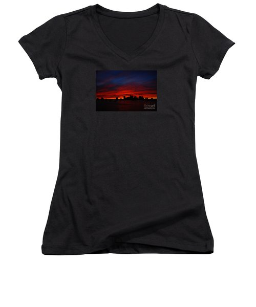 Boston Twilight Women's V-Neck T-Shirt