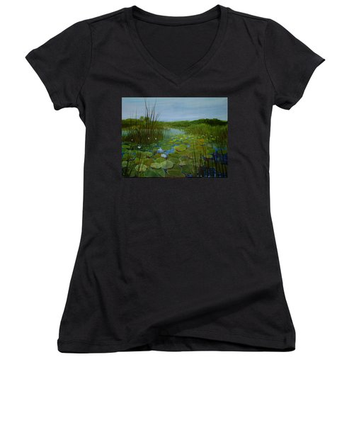 Botswana Lagoon Women's V-Neck T-Shirt