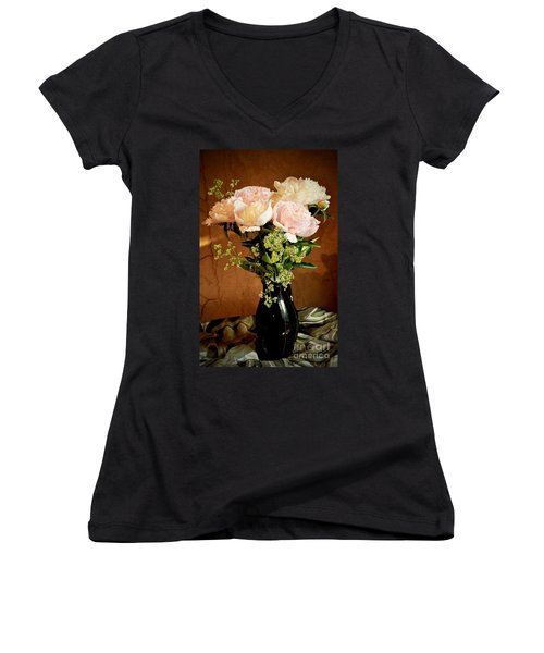 Bouquet Of Peonies Women's V-Neck (Athletic Fit)