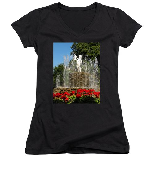Boy With The Boot 3 Women's V-Neck (Athletic Fit)