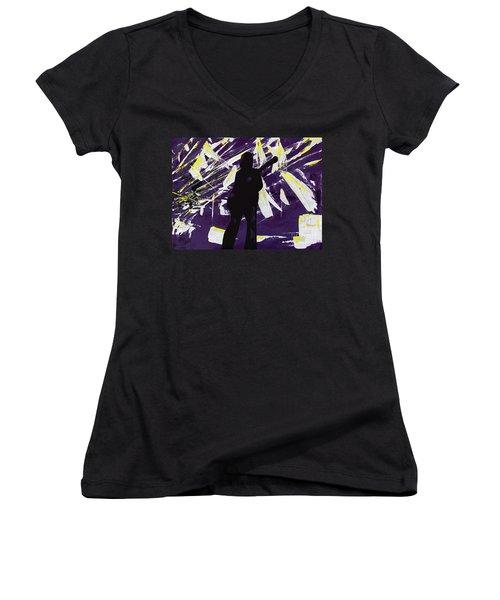 Breakdown Women's V-Neck T-Shirt
