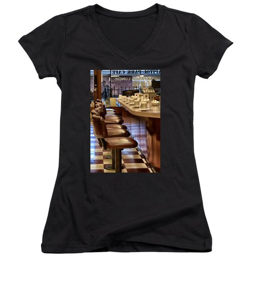 Breakfast And Lunch Women's V-Neck T-Shirt (Junior Cut)
