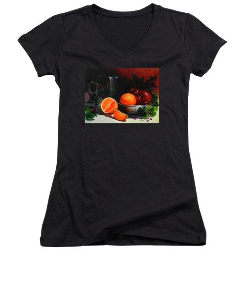 Breakfast Fruits, Peru Impression Women's V-Neck T-Shirt