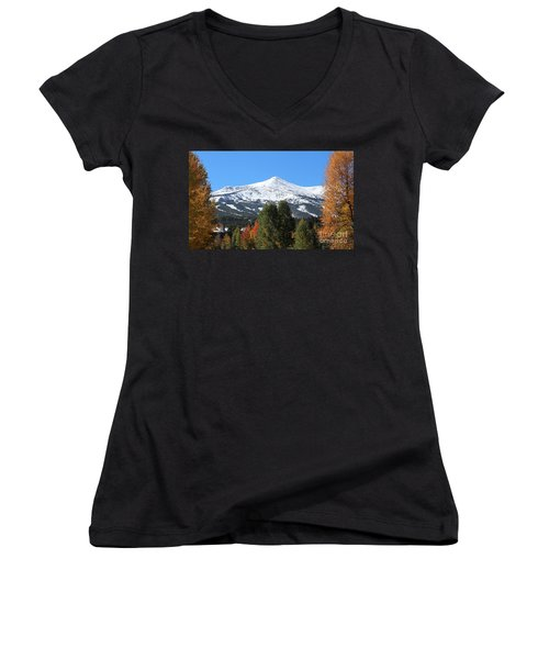 Breckenridge Colorado Women's V-Neck (Athletic Fit)
