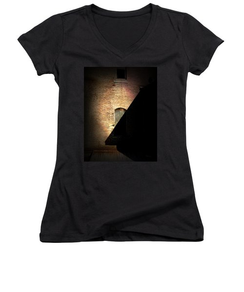 Brick And Shadow Women's V-Neck (Athletic Fit)