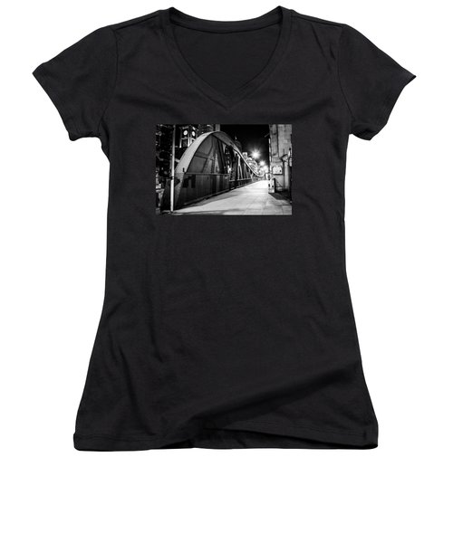 Bridge Arches Women's V-Neck T-Shirt (Junior Cut) by Melinda Ledsome