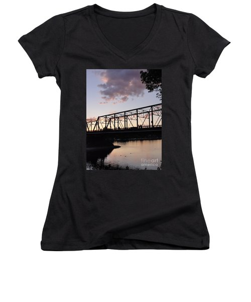Bridge Scenes August - 1 Women's V-Neck (Athletic Fit)