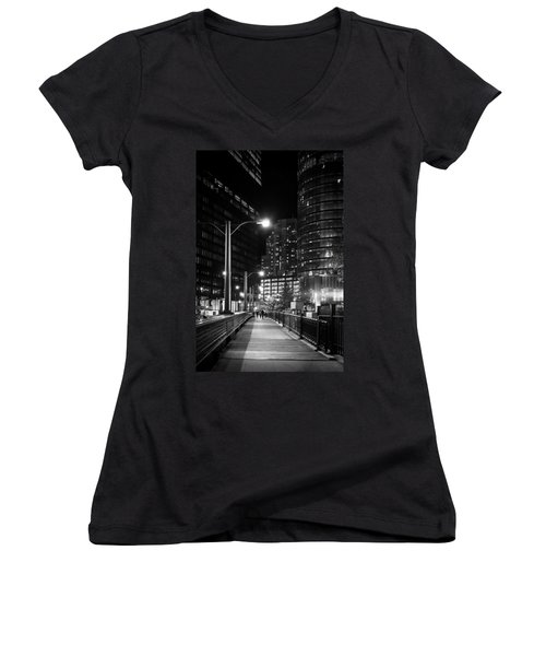 Long Walk Home Women's V-Neck T-Shirt (Junior Cut) by Melinda Ledsome