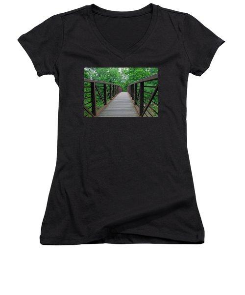 Bridging The Gap Women's V-Neck T-Shirt