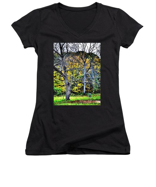 Bright Darkness Women's V-Neck (Athletic Fit)