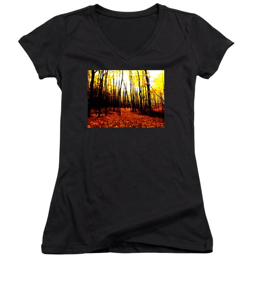 Bright Woods Women's V-Neck (Athletic Fit)