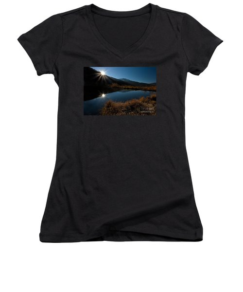 Brilliant Sunrise Women's V-Neck (Athletic Fit)