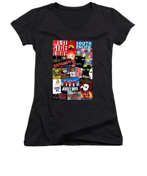 Broadway 1 Women's V-Neck T-Shirt