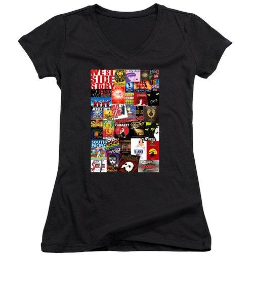 Broadway 4 Women's V-Neck T-Shirt