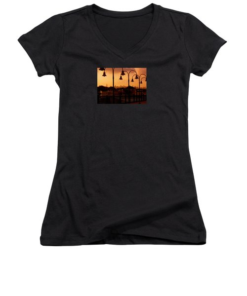Broadway Junction In Brooklyn, New York Women's V-Neck (Athletic Fit)