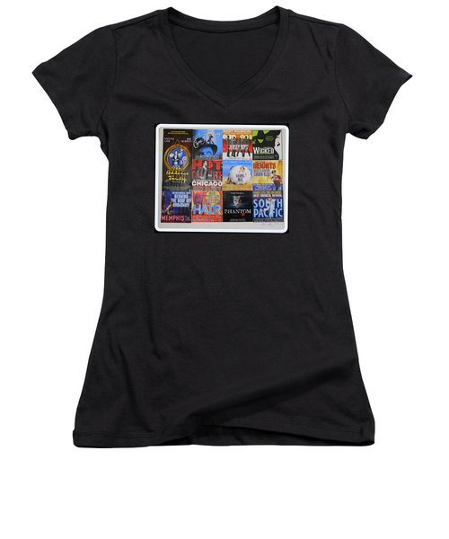 Broadway's Favorites Women's V-Neck T-Shirt (Junior Cut)