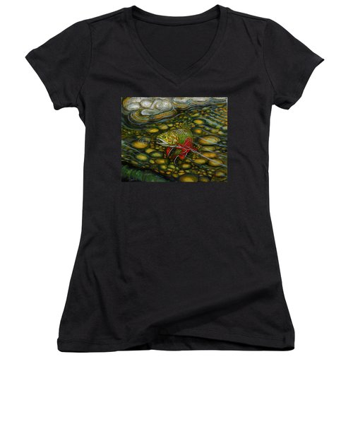 Brook Trout Women's V-Neck (Athletic Fit)