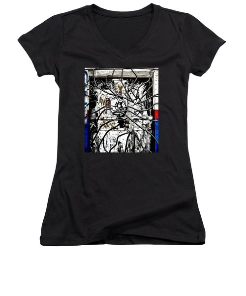 Broome Street Found Art Nyc Women's V-Neck (Athletic Fit)