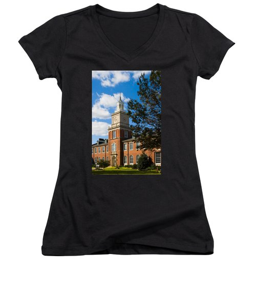 Browning Building At  A P S U Women's V-Neck (Athletic Fit)