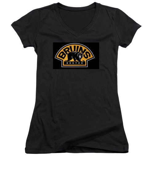 Bruins In Boston Women's V-Neck (Athletic Fit)