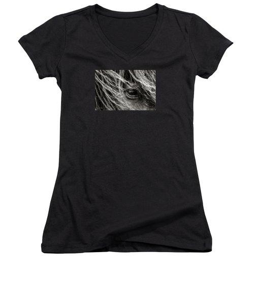 Brunn Stjarna Women's V-Neck T-Shirt (Junior Cut) by Joan Davis