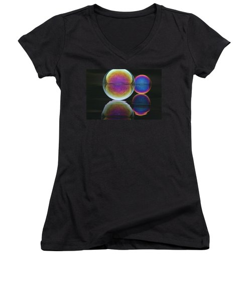 Bubble Spectacular Women's V-Neck (Athletic Fit)