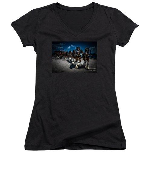 Budweiser Clydesdales Women's V-Neck T-Shirt
