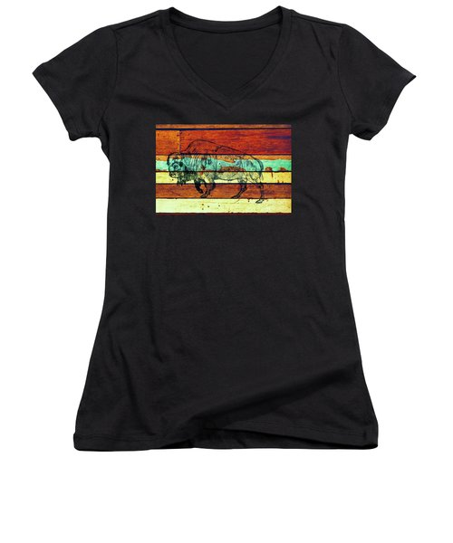 The Great Gift Women's V-Neck T-Shirt (Junior Cut) by Larry Campbell