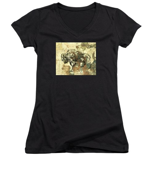 Buffalo 7 Women's V-Neck T-Shirt (Junior Cut) by Larry Campbell