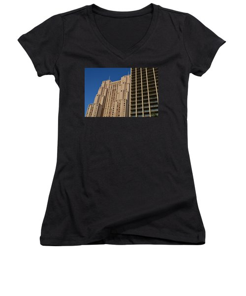 Women's V-Neck T-Shirt (Junior Cut) featuring the photograph Building Blocks by Shawn Marlow