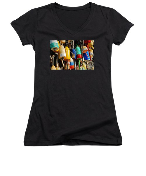 Buoys From Russell's Lobsters Women's V-Neck