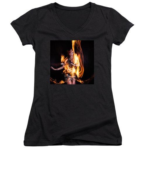 Burn It Up Women's V-Neck