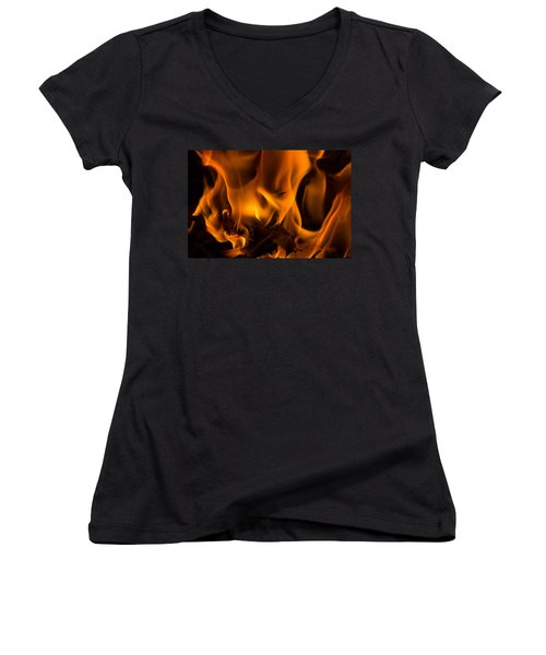 Burning Holly Women's V-Neck T-Shirt