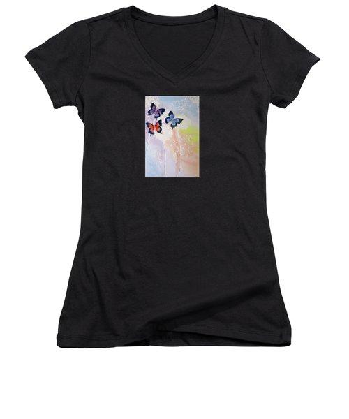 Butterfly Dream Women's V-Neck T-Shirt