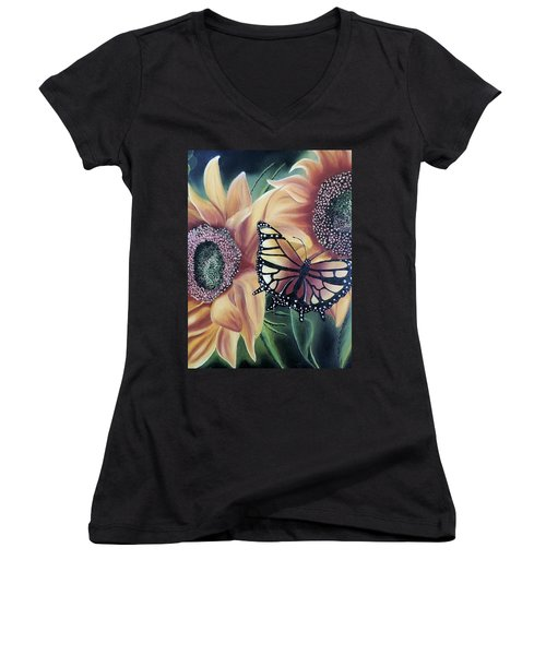 Butterfly Series 5 Women's V-Neck (Athletic Fit)