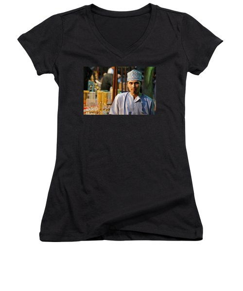 Buy My Gold Women's V-Neck T-Shirt (Junior Cut) by Debi Demetrion