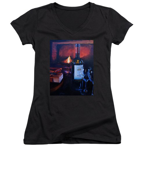 By The Fire Women's V-Neck T-Shirt