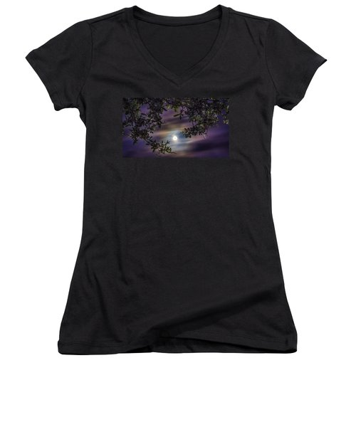 By The Moonlight Women's V-Neck (Athletic Fit)
