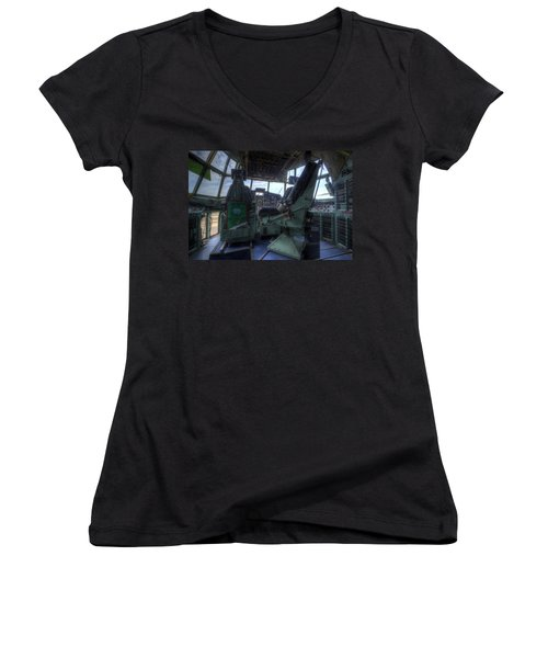 C-130 Cockpit Women's V-Neck